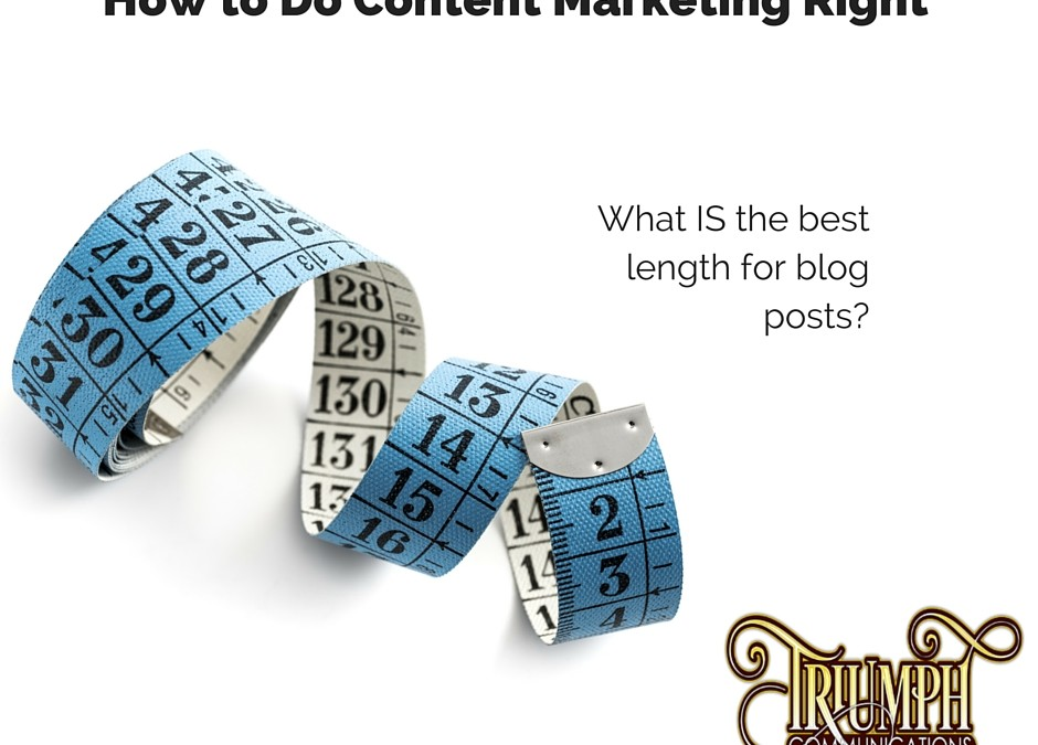 How to Do Content Marketing Right – Go Long